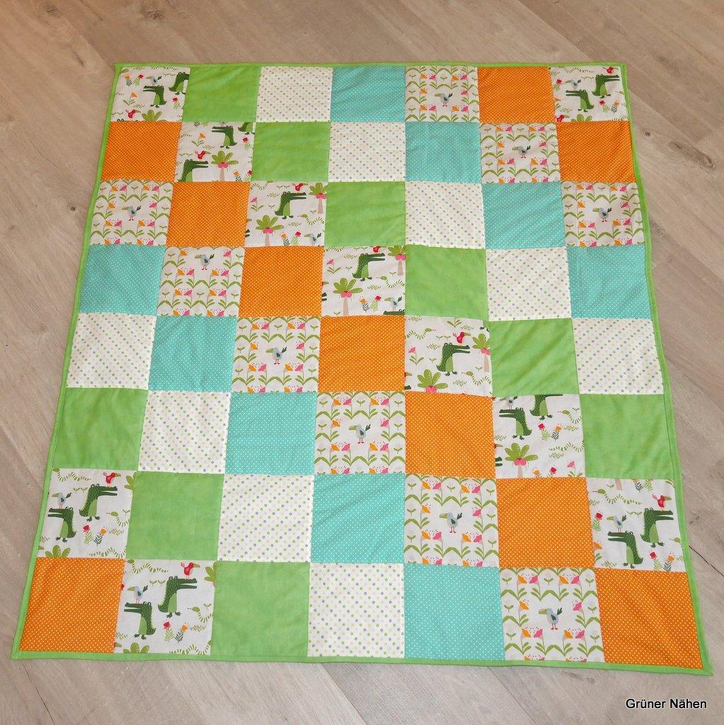 Quilt mit Fleece-Rückseite für mein Wassermann-Kind – Grüner Nähen ...